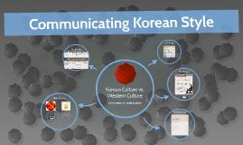 Communicating Korean Style
