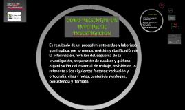 Copy of Copy of COMO PRESENTAR UN INFORME DE INVESTIGACION