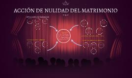 ACCIÓN DE NULIDAD DEL MATRIMONIO