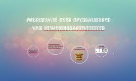 Presentatie over optimaliseren