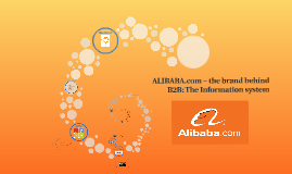 Alibaba.com- the brand behind B2B