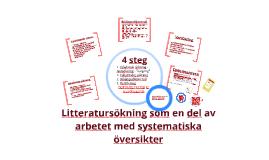 Litteratursökning som en del av arbetet med systematiska översikter