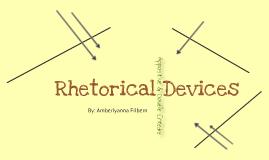 Rhetorical Devices: