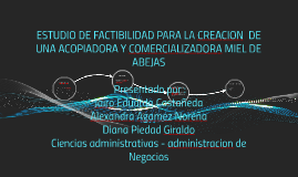 Copy of ESTUDIO DE FACTIBILIDAD PARA LA CREACION  DE UNA ACOPIADORA