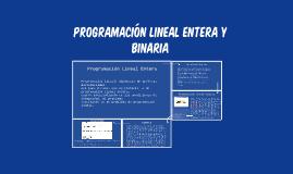 programación lineal y binaria