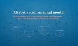 Alfabetización en salud mental