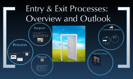 Entry & Exit Process