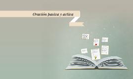 Oración pasiva y activa