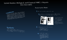 Submit Nuclear, Biological, and Chemical (NBC) 1 Reports  (031-503-1005)