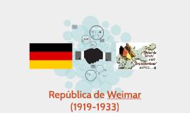 República de Weimar (1919-1933)