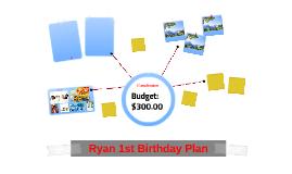 Ryan 1st Birthday Plan