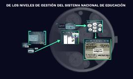 Copy of DE LOS NIVELES DE GESTIÓN DEL SISTEMA NACIONAL DE EDUCACIÓN