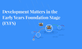 Development Matters in the Early Years Foundation Stage (EYF
