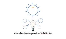 """Manual de buenas prácticas """"Pollolín S.A"""