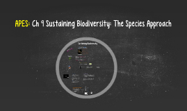 Copy of APES: Ch 9 Sustaining Biodiversity: The Species Approach