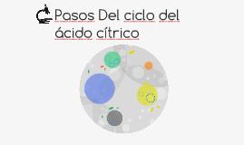 Pasos Del ciclo del ácido cítrico
