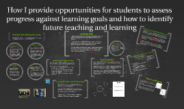 How I provide opportunites for students to assess progres