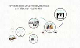 Revolutions in 20th century