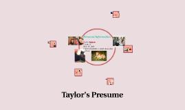 Taylors Prezume