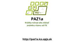 PAZ1a - organizácia (2017/2018)