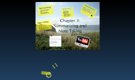 Chapter 3: Summarizing and Note Taking