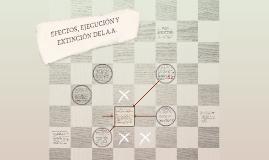 EFECTOS, EJECUCIÓN Y EXTINCIÓN DEL A.A.