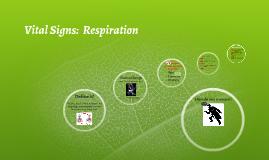 Vital Signs:  Respiration