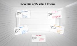 Revenue of Baseball Teams