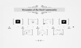 Dynamics of the Deaf Community