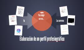Copy of Elaboración de un perfil profesiográfico