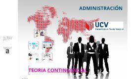 Copy of TEORÍA CONTINGENCIAL