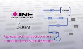 Representación proporcional en el modelo democrático de Méxi