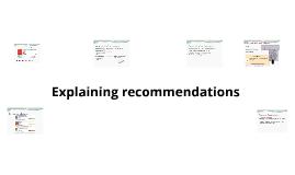 Explaining recommenations HW