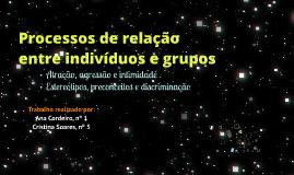 Copy of Processos de relação entre indivíduos e grupos - Psicologia 12ºAno