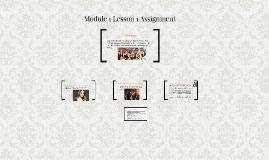 Module 1 Lesson 1 Assignment