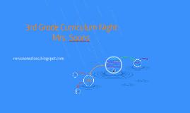 Curriculum Night: 3rd Grade 101