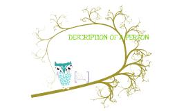 Copy of Description of a person