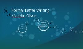Formal Letter Writing