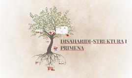 DISAHARIDI-STRUKTURA I PRIMENA