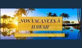 NOS VACANCES À HAWAII