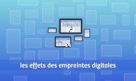 les effets des empreintes digitales