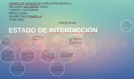 ESTADO DE INTERDICCIÓN