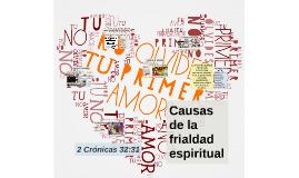 Causas de la frialdad espiritual