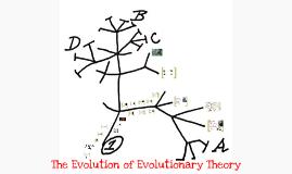 Evolution of Evolutionary Theory