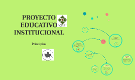 PROYECTO EDUCATIVO INSITITUCIONAL
