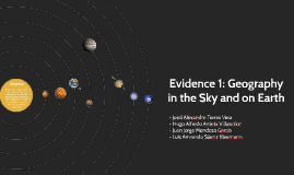 Evidence 1: Geography in the Sky and on Earth