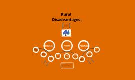 Copy of rural disadvantage