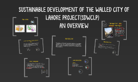 Copy of SUSTAINABLE DEVELOPMENT OF THE WALLED CITY OF LAHORE PROJEC