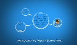 Copy of PAGHAHANDA NG PAGKAIN SA MAG-ANAK