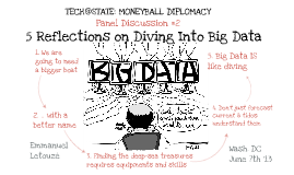 Tech@State: Moneyball Diplomacy - Diving Into Data